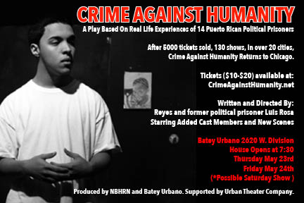 Crime Against Humanity Comes Back to the Chi!