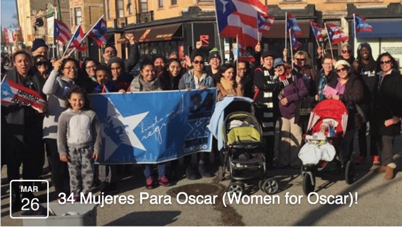 Un Patriota Encarcelado que Tenemos Que Sacar 34 Women for Oscar March 26 Rally