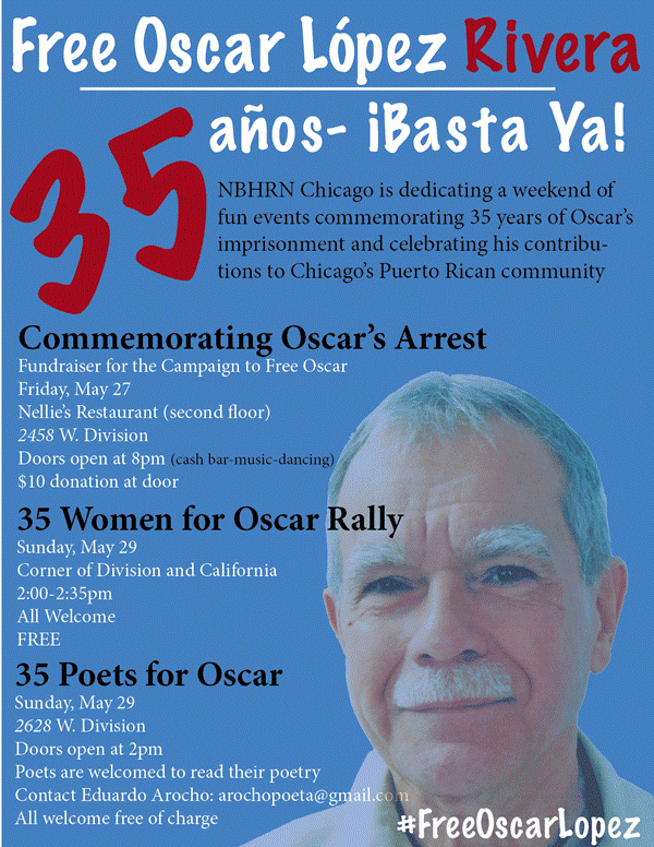 Friday, May 27, 8PM Commemorating Oscar's Arrest