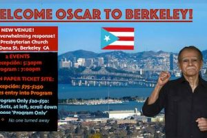 MAY 31, 2017 – SF, BAY AREA – Welcoming Oscar Lopez Rivera – NEW VENUE!