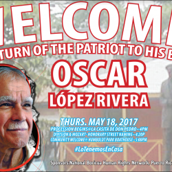 MAY 18, 2017 - OSCAR LOPEZ RETURNS TO CHICAGO