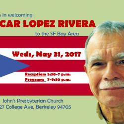 MAY 31, 2017 - SF, BAY AREA - Welcoming Oscar Lopez Rivera