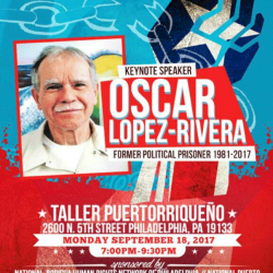 SEPTEMBER 18, 2017 - OSCAR LOPEZ IN PHILLY!
