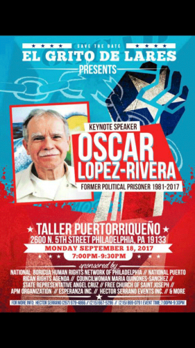 SEPTEMBER 18, 2017 - OSCAR LOPEZ IN PHILLY!